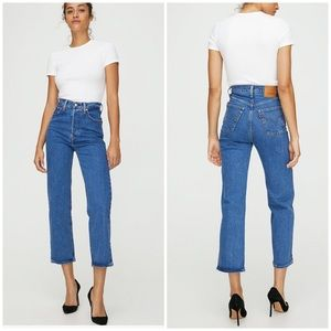 Levi's rib cage straight ankle jeans NWT 25